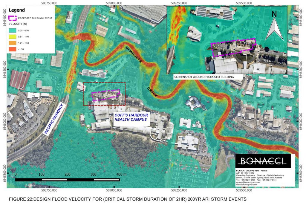 Civil Flood Study - Coffs Harbour Health Campus